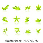 leaves design elements | Shutterstock .eps vector #40973275