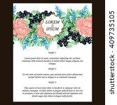 vintage delicate invitation... | Shutterstock .eps vector #409735105