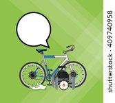 healthy lifestyle design ... | Shutterstock .eps vector #409740958