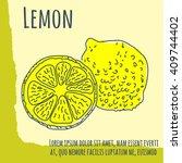 fruits poster  flyer or... | Shutterstock .eps vector #409744402