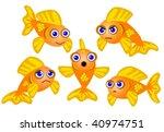 goldfish set   cartoon style... | Shutterstock .eps vector #40974751