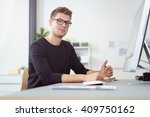 single handsome young man... | Shutterstock . vector #409750162