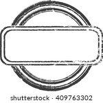 oval grunge label. retro frames ... | Shutterstock .eps vector #409763302