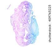 vector hand drawn colored sea... | Shutterstock .eps vector #409765225