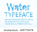 vector water typeface   Shutterstock .eps vector #409770478