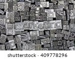 close up of old used metal... | Shutterstock . vector #409778296