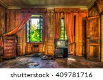 Dilapidated Luxurious Room In...