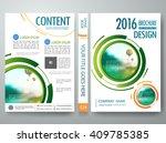 brochure design template vector.... | Shutterstock .eps vector #409785385