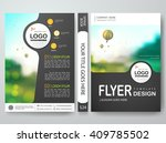 flyers design template vector.... | Shutterstock .eps vector #409785502