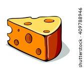 cheese icon.  feta  mozzarella  ... | Shutterstock .eps vector #409788946