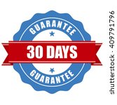 30 days guarantee stamp  ... | Shutterstock .eps vector #409791796