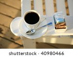 black coffee outside | Shutterstock . vector #40980466