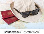russian passports and... | Shutterstock . vector #409807648