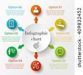 infographic design chart.... | Shutterstock .eps vector #409832452