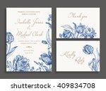 vintage wedding set with spring ... | Shutterstock .eps vector #409834708