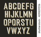 vintage alphabet letters. | Shutterstock .eps vector #409839556