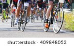 many racing bikes led by... | Shutterstock . vector #409848052