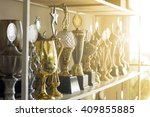trophy awards for champion... | Shutterstock . vector #409855885