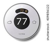 smart modern thermostat  wall...   Shutterstock .eps vector #409856122