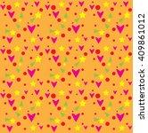 seamless heart pattern  heart...   Shutterstock .eps vector #409861012