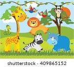 jungle animals | Shutterstock .eps vector #409865152