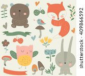 Vector Set Of Forest Animals ...