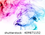 colorful smoke isolated on... | Shutterstock . vector #409871152