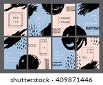 trendy minimal cards design... | Shutterstock .eps vector #409871446
