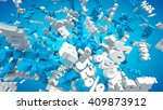 3d rendered sale background... | Shutterstock . vector #409873912