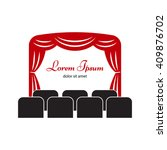 theater stage with curtain and ... | Shutterstock .eps vector #409876702