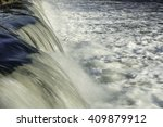 Abstract Of Man Made Waterfall...