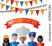 May First Workers Day Flat...