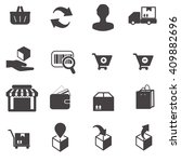 shopping vector icon set 5 | Shutterstock .eps vector #409882696