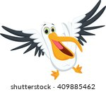 cute pelican cartoon | Shutterstock .eps vector #409885462