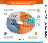 3d infographics pie chart for... | Shutterstock .eps vector #409891276