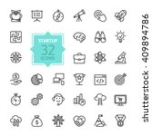 outline web icon set   start up ... | Shutterstock .eps vector #409894786