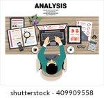 flat design illustration... | Shutterstock .eps vector #409909558