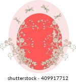 Card In Chinoiserie Style With...