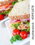 healthy organic sandwich ...