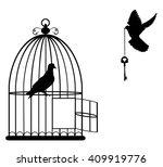 vector illustration of a bird... | Shutterstock .eps vector #409919776