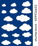vector illustration of clouds... | Shutterstock .eps vector #409926652