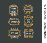 classic art deco luxury minimal ... | Shutterstock .eps vector #409928176