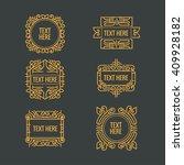 classic art deco luxury minimal ... | Shutterstock .eps vector #409928182