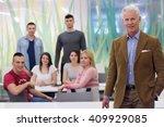 portrait of confident teacher   ...   Shutterstock . vector #409929085