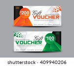 Orange And Green Gift Voucher...