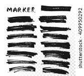 permanent marker. dry paint... | Shutterstock .eps vector #409950292