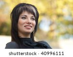beautiful girl's portrait with... | Shutterstock . vector #40996111