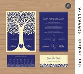 wedding invitation or greeting... | Shutterstock .eps vector #409961176