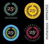 set of anniversary badges flat... | Shutterstock .eps vector #409962922