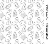 seamless pattern of inky travel ... | Shutterstock .eps vector #409966066